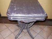East Lake Style Empire Side Table Painted / Shabby