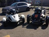 Now Renting Can-Am Spyder RS all black /white also