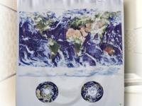 This shower curtain is made out of very durable PVC