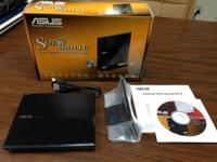 Offering a nearly new ASUS SDR-08D1S-U external DVD/CD