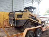 ASV 100 skid steer with 2000 hours, cat diesel,Runs