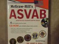 McGraw-Hill ASVAB study guide in excellent condition.