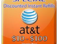 AT&T DISCOUNTED PREPAID REFILLS (CHEAPEST ON EBAY)
