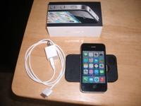 Unlocked AT&T Iphone 4.Excellent condition.Comes with
