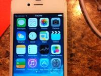 AT&T iPhone 4 16 gig white works like new. Back is