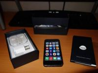 For sale is a 32 GB iPhone 5 in black currently setup