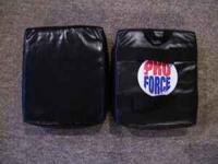 One ATA black sparring pad for $5 with belt grips to
