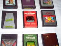 19 Vintage ATARI 2600 Game Cartridges & a 3 Drawer