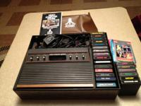 Atari CX2600 Video Computer System w/ storage case and