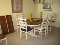 "Dining set . Athol Kitchen Table (42""x 68"") 30"" high,"