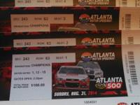 4 Tickets to the Atlanta 500 @ Atlanta Motor Speedway,