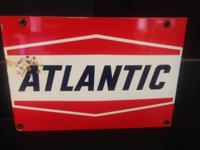 Atlantic Electric motor Oil Steel Sign! Tiny indication