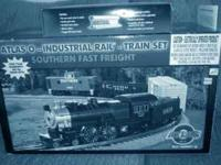 THIS IS AN ATLAS O SCALE TRAIN SET CALLED SOUTHERN FAST