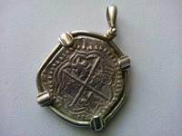 Atocha shipwreck coin made with atocha silver , sold in
