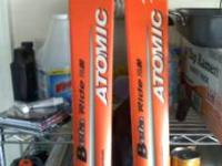 Skis with bindings, used a total of 10 to 15 times