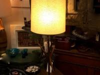 "Atomic Table Lamp. 39"" Tall. $195. Mid Century Atomic"