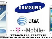 Factory Unlock Service AT&T/ T-Mobile Samsung Galaxy