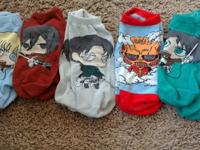 Stylish Attack on Titan collectible socks. Each sock