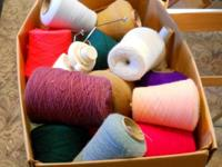 I'm offering a large box of Delaine acrylic, 2 ply