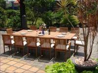 This post includes our fine 13pc RIO TEAK DINING SET