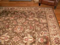 We just bought this beautiful rug for our family room.