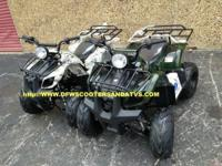125CC ATV WITH REVERSE RUNS ON REGULAR GAS FULLY