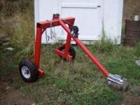 Log skidder attachment for ATV, Tractor, or small