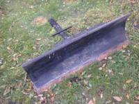 "48"" snow plow for an ATV or garden tractor 16"" height"