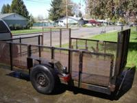 6 x 10 ft deck - $950 ATV trailer 6 x 10 ft deck 2""