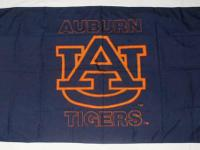 This is a unique double sided 3' x 5' Auburn University