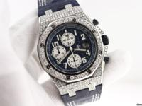 Audemars Piguet Diamond Royal Oak Offshore with Blue