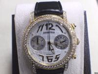 AUDEMARS PIGUET JULES 18KT YELLOW GOLD & DIAMOND WATCH
