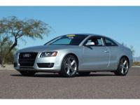 2010 Audi A5 Premium Plus Coupe in Silver with black