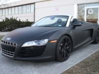2012 Audi R8 Spyder 5.2- Matte Black!!!Take a look at