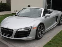 2011 Audi R8 V10 ConvertibleYou are looking at arguably