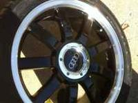 "Practically brand new 18"" wheels, Black with Chrome"