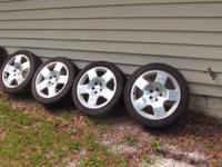 Set of 17 audi wheels and tires, will certainly