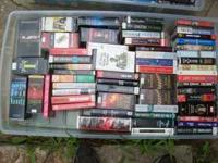 Over 200 various titles of Audio books. Cassette and