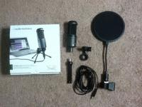 Hello, For sale is my Audio-Technica AT 2020 USB