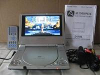 "Audiovox 7""LCD Monitor & DVD Player. Plays DVD, CD and"