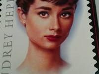 AUDREY HEPBURN HONORED ON POSTAGE STAMP 11 X 17 issued