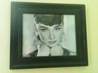Large beautiful Audrey Hepburn picture from film