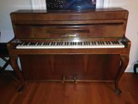 Beautiful, upright, compact piano by August Forester,