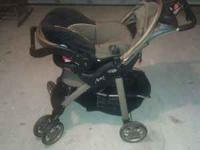 Stroller, Car Seat, and Car Seat Base.Also have a