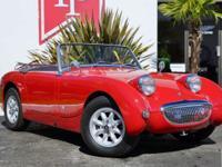 Restored 1961 Austin Sprite 'Bugeye' in Red with Black