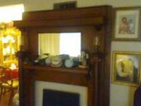 (GORGEOUS!). Strong Oak Fireplace Mantel and different