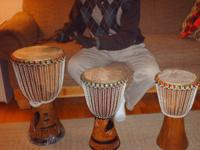 Genuine, West African D'Jembe Drums. Hand-Carved, deep