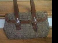 Authentic Coach Signature Purse Brown with small C's No