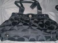 All black authentic coach purse...with coach logo Great