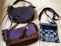 I have three different authentic COACH purses that I
